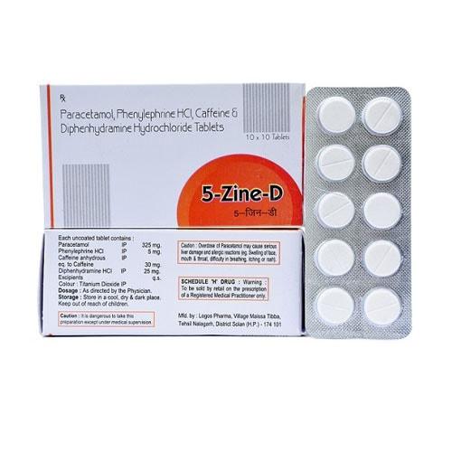 PARACETAMOL 325, PHENYLEPHRINE 5 mg HCI, CAFFEINEEE 30 mg & DIPHENHYDRAMINE  25 mg HYDROCHLORIDE TAB